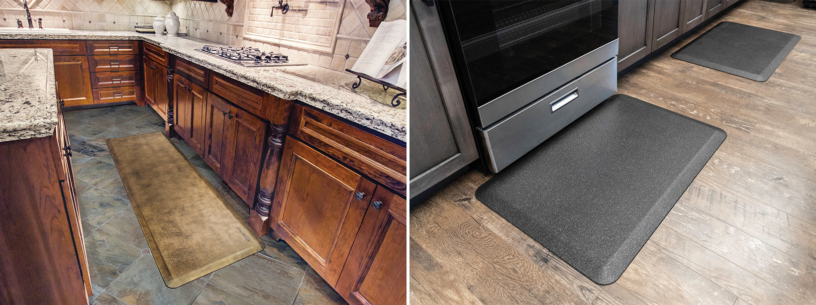 Linen & Granite WellnessMats in the Kitchen