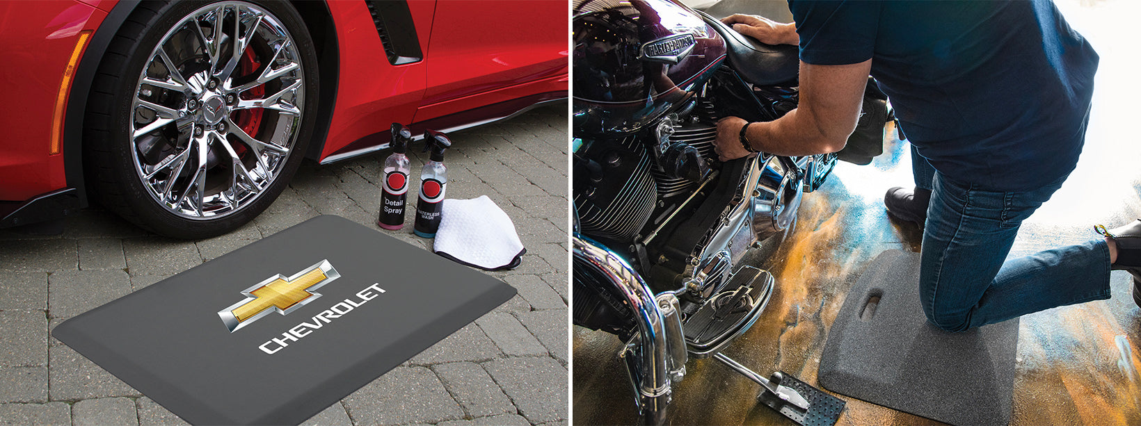 Licensed WellnessMats and Granite mats to trick out your garage