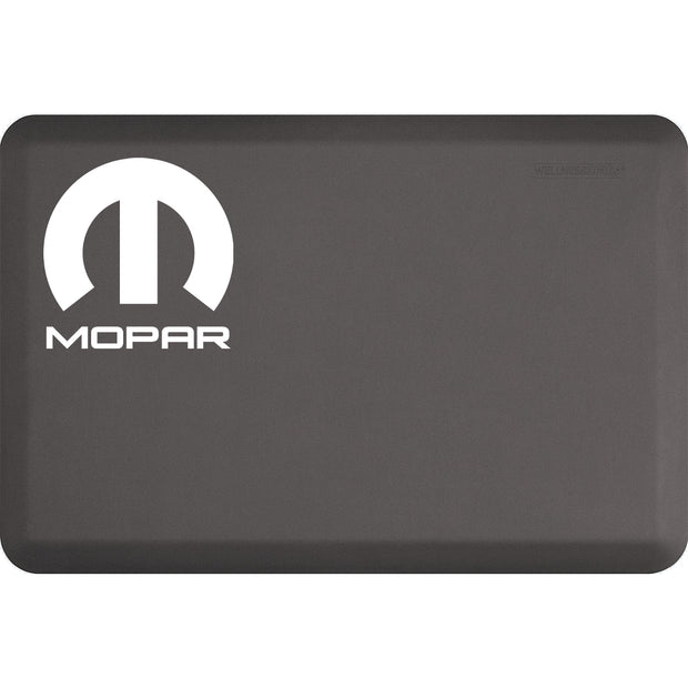 "Licensed Collection – ""Mopar White"" Logo - WellnessMats"