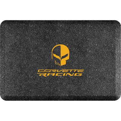 "Licensed Collection – ""Corvette Racing Jake Yellow"" Logo - WellnessMats"