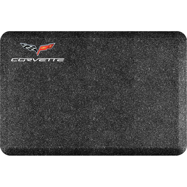 "Licensed Collection – ""C6 Corvette Crossflags"" Logo - WellnessMats"