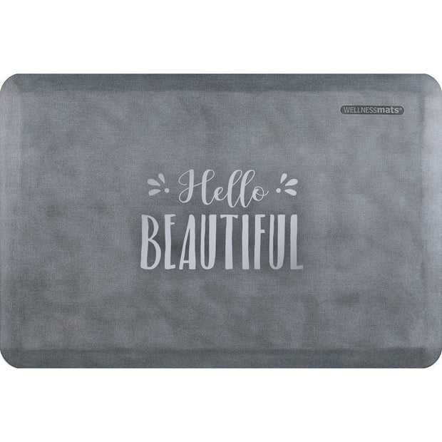 "Signature Exclusive ""Hello Beautiful"" – Linen - WellnessMats"