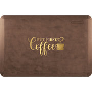 "Signature Exclusive ""But First, Coffee"" – Linen - WellnessMats"