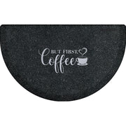 "Signature Exclusive ""But First, Coffee"" – Semi-Circle - WellnessMats"