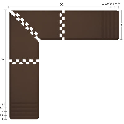 Original Collection – Brown PuzzlePiece L-Series - WellnessMats