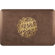 "Signature Exclusive ""Happy Holidays"" – Linen - WellnessMats"