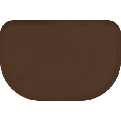 PetMat Rounded Collection – Brown Bark - WellnessMats