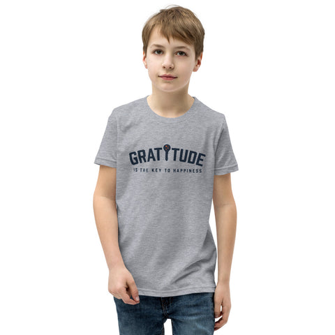 Gratitude Is The Key To Happiness Youth T-Shirt