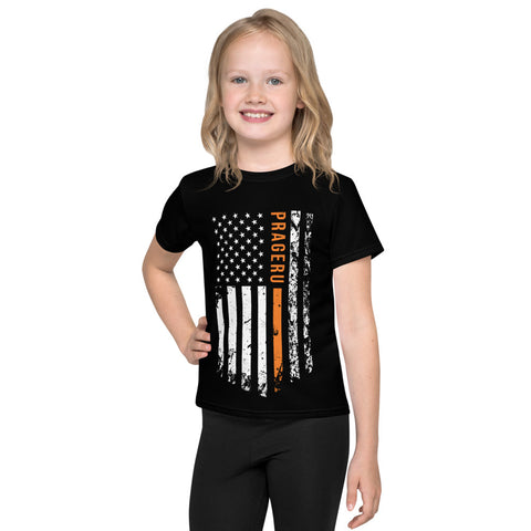 Distressed Flag Kids T-Shirt