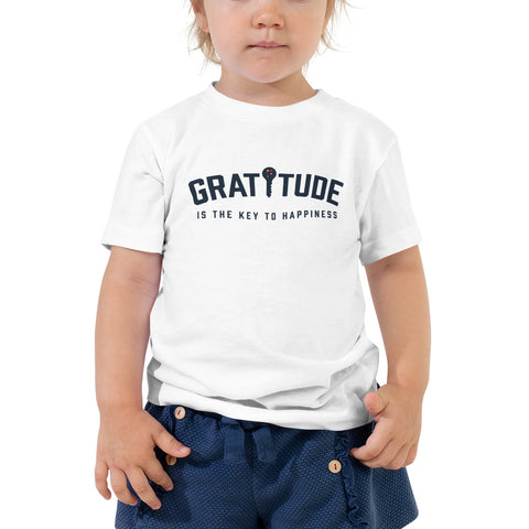 Gratitude Is The Key To Happiness Toddler Tee