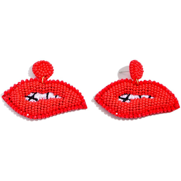 Beaded Lip Earring