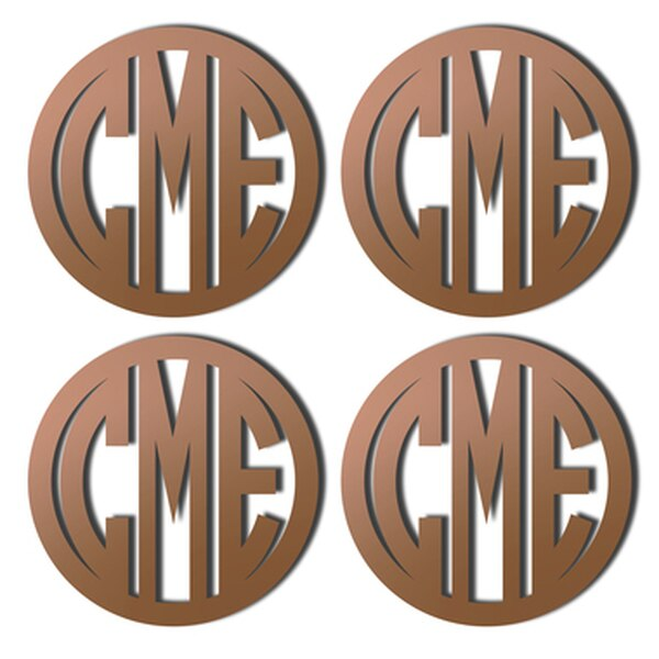 Monogrammed Acrylic Drink Coasters ( Set of 4)