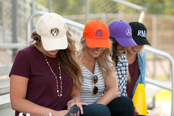 Monogrammed Baseball Caps | Various Colors