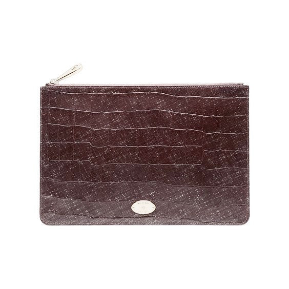 Croc Embossed Pouch