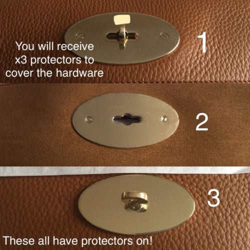 Small Bayswater Satchel Postman Lock Hardware Protector