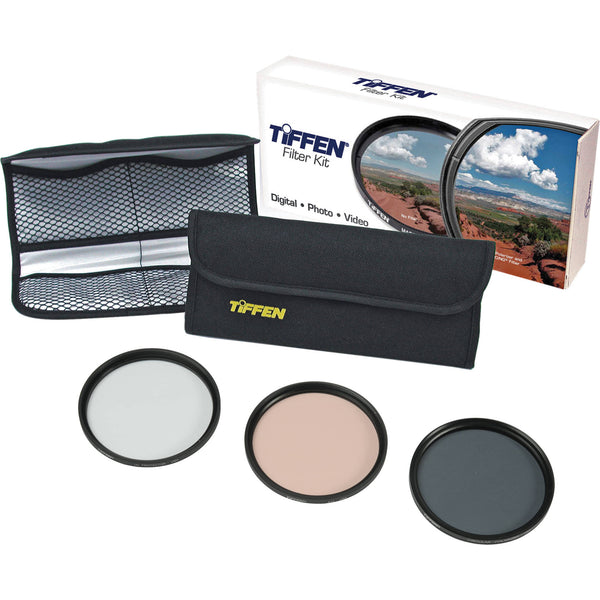 Kit de 3 Filtros Tiffen 62mm Photo Essentials 62TPK1