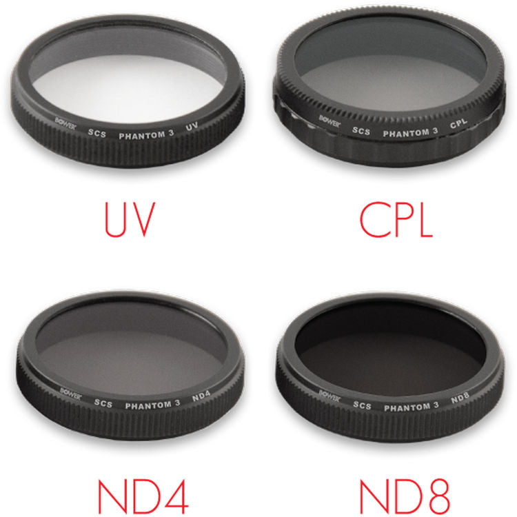 Kit de 4 Filtros Bower Sky Capture Series (UV, CPL, ND4, ND8)