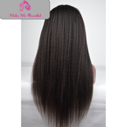 Italian Yaki Full Lace Wig Silk Top Make Me Beautiful