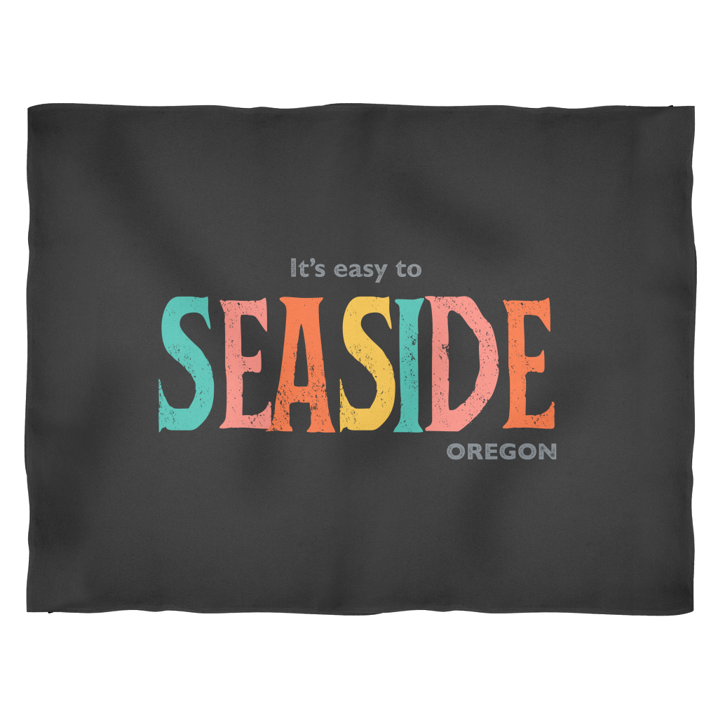 Seaside Oregon Small Fleece Blanket