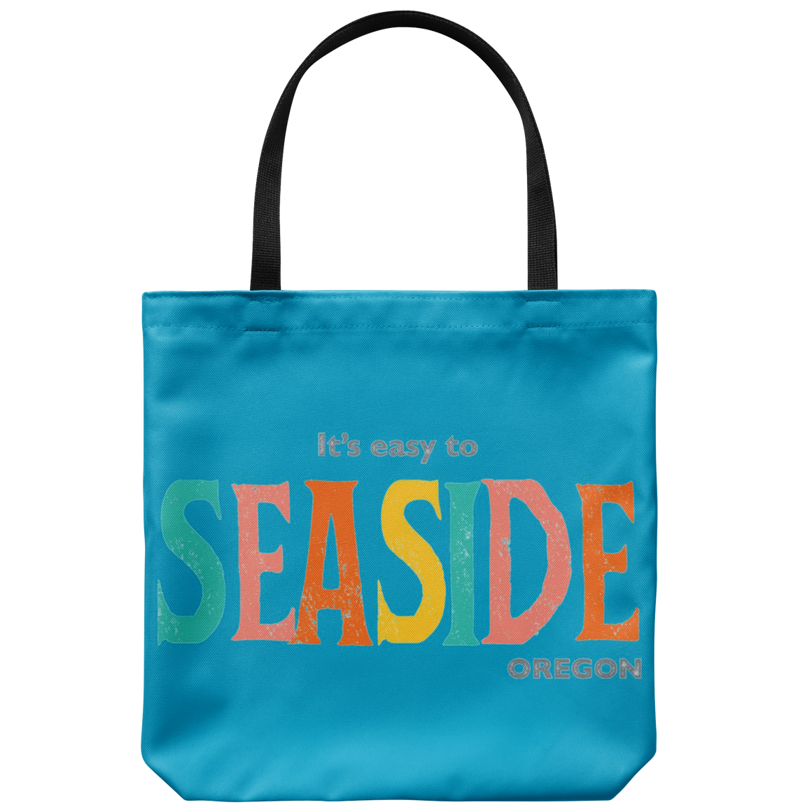 Blue Seaside Oregon Tote Bag