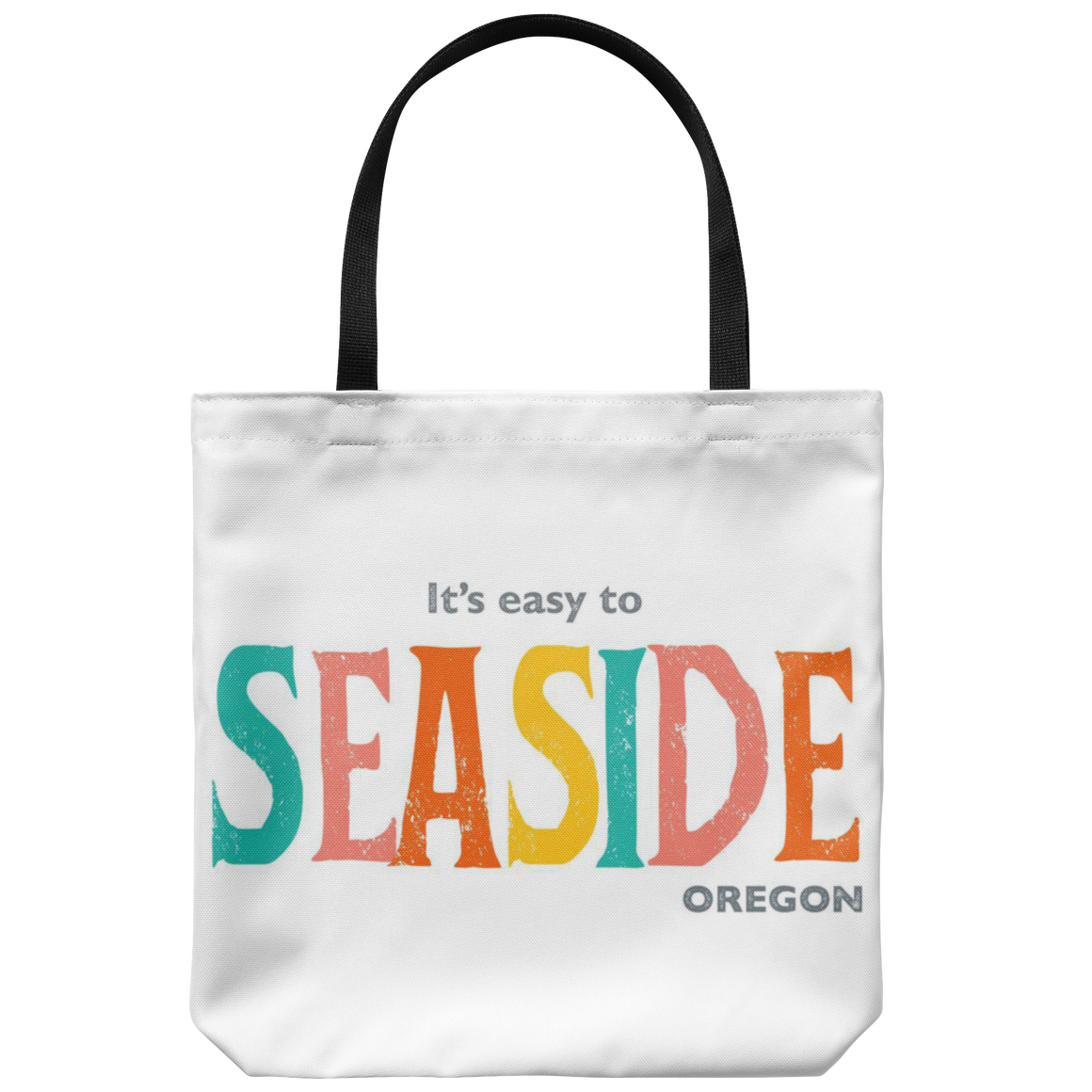 White Seaside Oregon Tote Bag