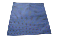 Italian Hand Sewn Pocket Square - Blue Micro Dot