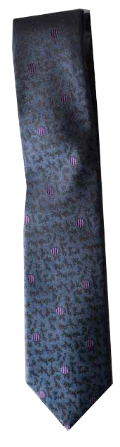Hand Sewn - Italian Silk Tie - Blue Purple Dot