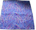 Italian Hand Sewn Pocket Square - Light Blue & Pink Paisley