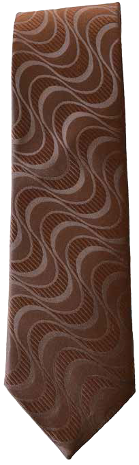 Hand Sewn - Italian Silk Tie - Brown Pattern
