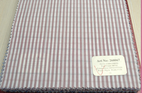 Signature Shirts-Stripe-Red-260067 - DV Clothiers - The Best Custom Mens Suits In Vancouver