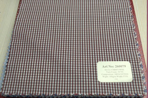Signature Shirts-Check -Wine Red-260079 - DV Clothiers - The Best Custom Mens Suits In Vancouver