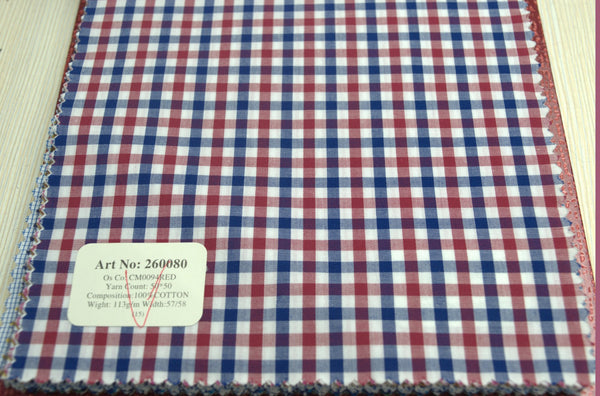 Signature Shirts-Check -Red/Blue-260080 - DV Clothiers - The Best Custom Mens Suits In Vancouver