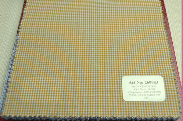 Signature Shirts-Check -Yellow-260083 - DV Clothiers - The Best Custom Mens Suits In Vancouver