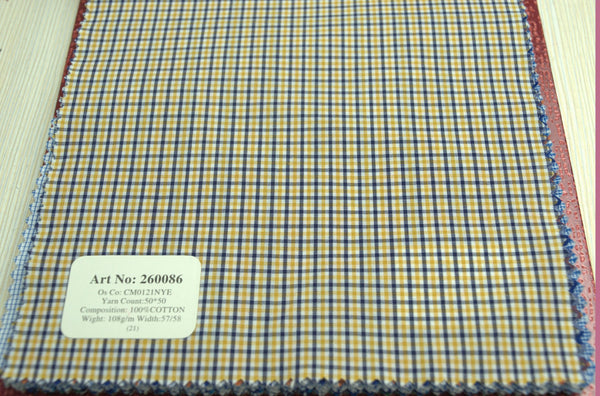 Signature Shirts-Check -Yellow/Blue-260086 - DV Clothiers - The Best Custom Mens Suits In Vancouver