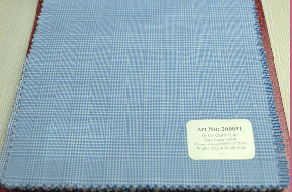Signature Shirts-Check -Blue-260091 - DV Clothiers - The Best Custom Mens Suits In Vancouver