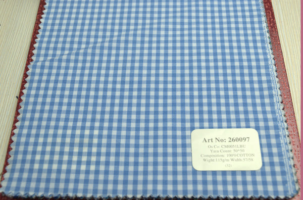 Signature Shirts-Check -Blue-260097 - DV Clothiers - The Best Custom Mens Suits In Vancouver
