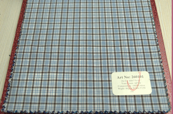 Signature Shirts-Check -Blue/Brown-260101 - DV Clothiers - The Best Custom Mens Suits In Vancouver