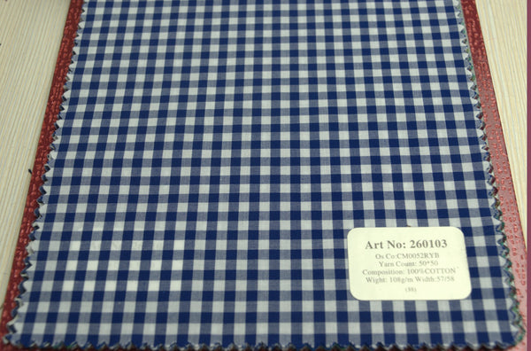 Signature Shirts-Check -Blue-260103 - DV Clothiers - The Best Custom Mens Suits In Vancouver