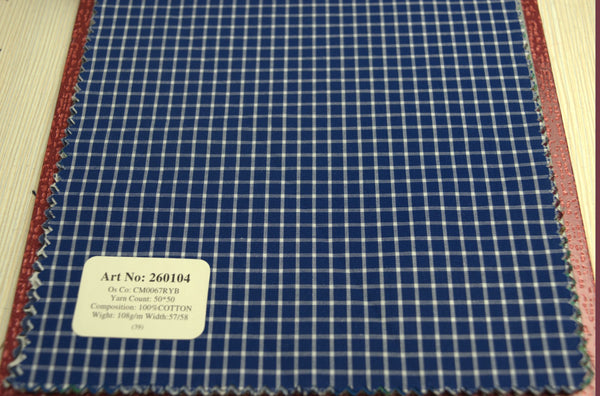 Signature Shirts-Check -Blue-260104 - DV Clothiers - The Best Custom Mens Suits In Vancouver