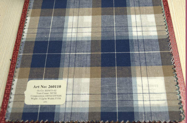 Signature Shirts-Casual Check -Blue/Brown-260110 - DV Clothiers - The Best Custom Mens Suits In Vancouver