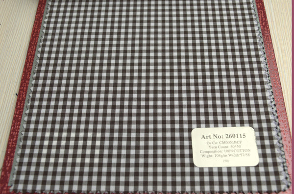 Signature Shirts-Check -Brown-260115 - DV Clothiers - The Best Custom Mens Suits In Vancouver