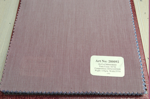 Signature Shirts-Stripe-Red-280092 - DV Clothiers - The Best Custom Mens Suits In Vancouver