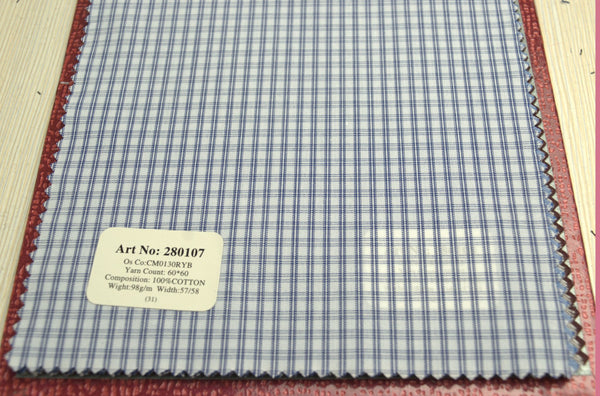 Signature Shirts-Check -Blue-280107 - DV Clothiers - The Best Custom Mens Suits In Vancouver