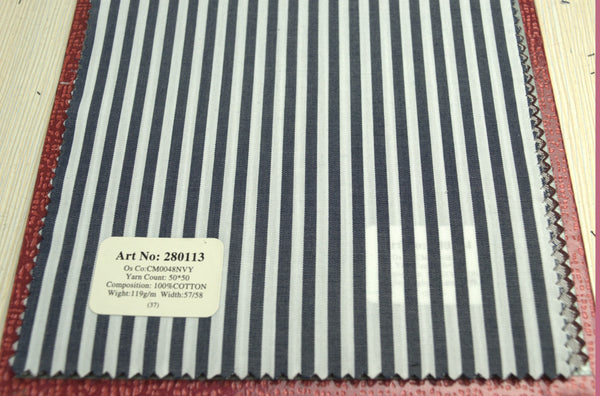 Signature Shirts-Stripe-Blue-280113 - DV Clothiers - The Best Custom Mens Suits In Vancouver