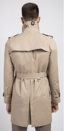 Beige Mens Trench Coat - DV Clothiers - The Best Custom Mens Suits In Vancouver