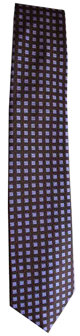 Italian silk ties hand sewn in Italy - Blue & Purple Check