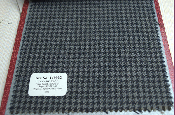 signature-100-wool-super-140s-310-gs-m-houndstooth-tweed-blueish-140092 - DV Clothiers - The Best Custom Mens Suits In Vancouver