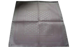 Italian Hand Sewn Pocket Square - Baby Pink Design
