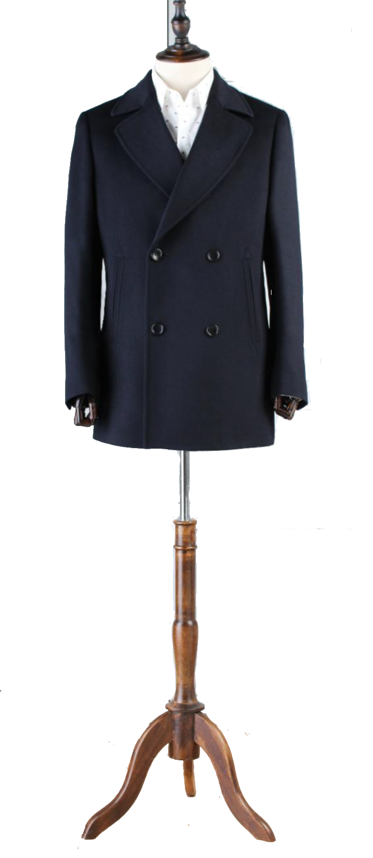 Premium Regular Length Double Breasted Overcoat - DV Clothiers - The Best Custom Mens Suits In Vancouver
