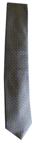 Italian silk ties hand sewn in Italy - Multi Grid Pattern